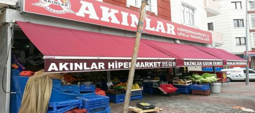 market tentesi